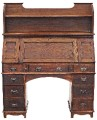 Antique Arts and Crafts bureau desk writing table bookcase
