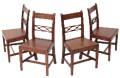 Antique quality set of 4 19C Georgian oak dining chairs