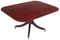 Antique large Victorian mahogany 19th C tilt top loo breakfast table