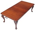 Antique large early 20C wind out extending mahogany dining table 8'