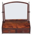 Antique quality Victorian 19C swing toilet mirror dressing chest table top