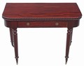 Antique quality Victorian mahogany 19th C folding card tea table console