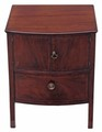 Antique Georgian mahogany 19th C bedside cupboard table cabinet commode