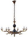 Antique large 6 lamp ormolu brass bronze black chandelier FREE DELIVERY