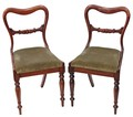 Antique pair of rosewood William IV / Victorian dining chairs bedroom side