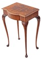 Antique small burr walnut hall side occasional table telephone