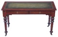 Antique Victorian mahogany walnut 19th Century writing table desk