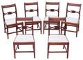 Antique set of 6 Victorian 19C mahogany dining chairs