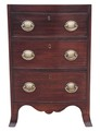 Antique small Georgian 18C mahogany caddy top chest of drawers bow front
