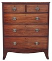 Antique Georgian 18C 19C mahogany chest of drawers