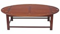 Antique quality large mahogany cherry butler's tray coffee table