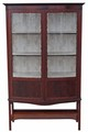 Antique large Edwardian mahogany bow front display cabinet