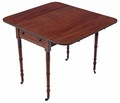 Antique Georgian mahogany 19C Pembroke supper tea side sofa table
