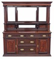 Antique Large Victorian mahogany walnut sideboard chiffonier Maple and Co.