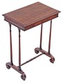 Antique fine quality Regency 19C mahogany small centre side writing table
