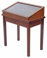 Antique quality Victorian mahogany display cabinet bijouterie table