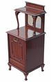 Antique quality mahogany perdonium bedside cupboard table cabinet coal box