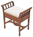 Antique quality mahogany Edwardian piano music stool dressing table