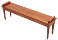 Antique quality Victorian revival cherry walnut window seat chair bench