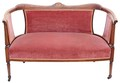 Antique Aesthetic Victorian 19C inlaid show wood walnut sofa settee