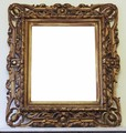 Antique 19C Regency Victorian Florentine gilt wood wall mirror overmantle