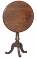 Antique walnut mahogany tilt top wine table