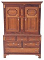 Antique Georgian 19C oak hall press housekeepers wardrobe cupboard