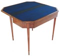 Antique early 19C folding flame mahogany card table