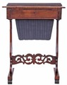 Antique Victorian 19C rosewood games work side sewing table