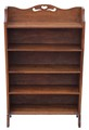 Antique Arts and Crafts oak bookcase shelves early 20C
