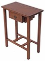 Antique Arts and Crafts small oak desk writing hall table reproduction