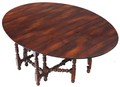 Antique large oak cherry dining table gateleg Theodore Alexander ~6'8