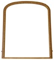 Antique large 19C Victorian gilt wood wall mirror overmantle
