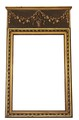 Antique early 20C decorative gilt wood wall mirror overmantle