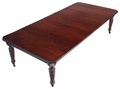 Antique large Victorian wind out extending walnut mahogany dining table 10'