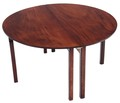 Antique Georgian 19C folding campaign mahogany dining table 4'6