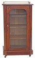 Antique Victorian 19C inlaid burr walnut music display cabinet