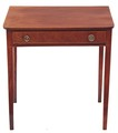 Antique Georgian inlaid mahogany desk writing table side occasional
