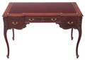 Antique quality Victorian Edwardian mahogany writing desk dressing table