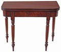 Antique Victorian William IV folding flame mahogany tea card console table