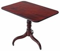 Antique Georgian mahogany tilt top supper tea breakfast occasional table