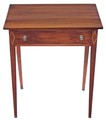 Antique Georgian inlaid yew cedar writing desk side occasional table