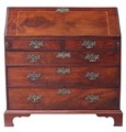Antique Georgian 18C mahogany bureau desk writing table