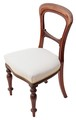 Antique set of 4 Victorian 19C mahogany balloon back dining chairs