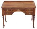 Antique Quality Maple and Co. ash oak desk writing dressing table
