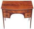 Antique Victorian Regency mahogany bow front writing desk dressing table