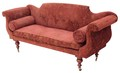 Antique Victorian 19C scroll arm sofa settee chaise longue