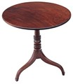 Antique Georgian mahogany tilt top supper tea occasional table