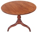Antique Georgian oak tilt top supper tea occasional table