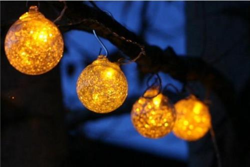 Clear Globe Solar String Lights : Allsop Aurora Glow Solar Glass 6 Globes String Lights Clear with Amber LED - Your Planet Mall